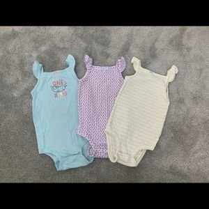 Carters set of 3 sleeveless bodysuits